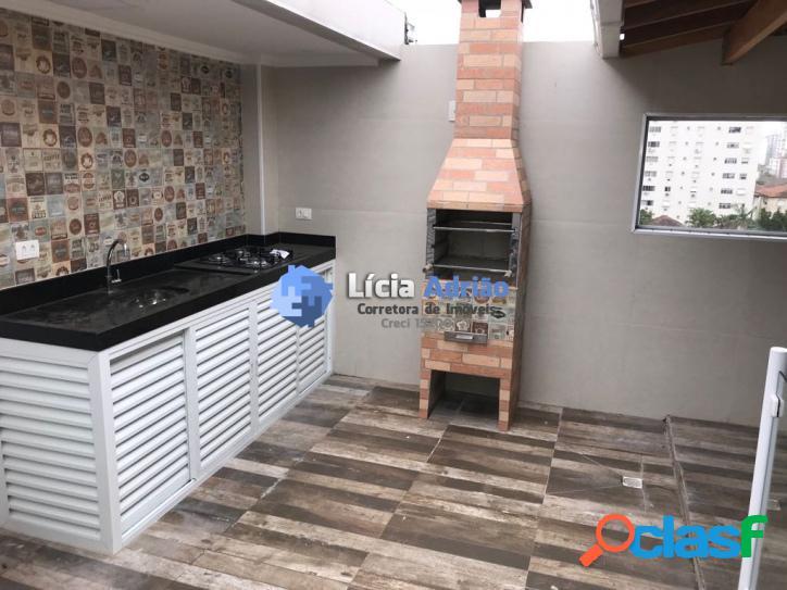 Triplex 2 suítes, área com churrasqueira - 1 vaga