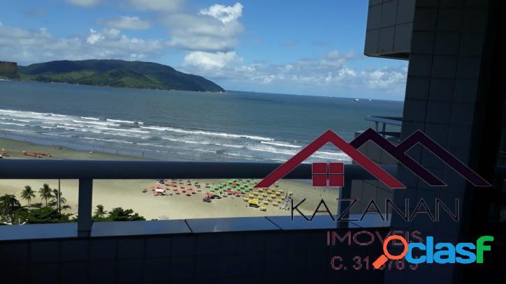Flat com vista mar e lazer no bairro do boqueirão em santos/