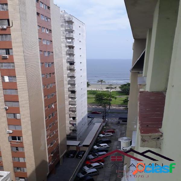 Apartamento - 1 dormitório - vista mar - embaré - santos