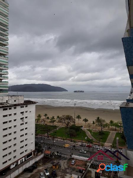 Apartamento - sacada com vista mar - gonzaga - santos