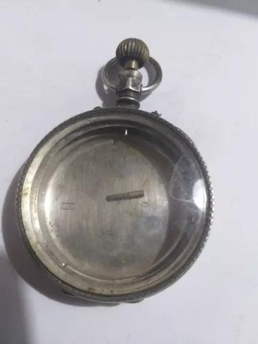 Caixa relogio bolso prata colecao r$ 199
