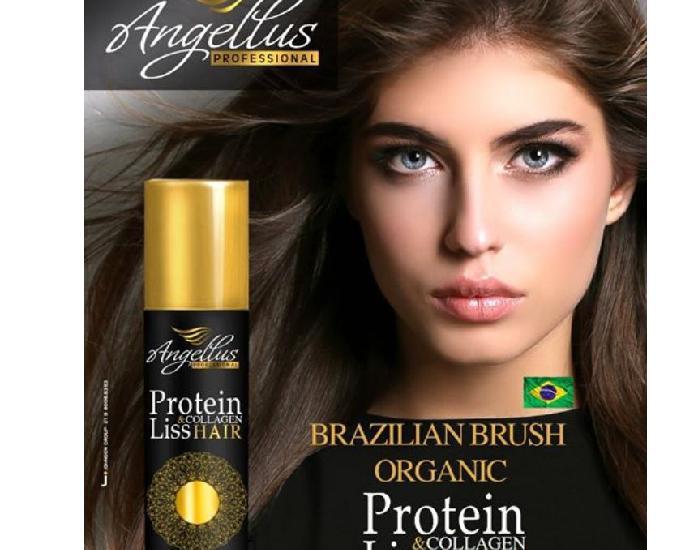 Escova de proteina angellus, alisamento total sem formol.