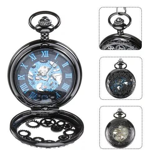 Estilo vintage clássico relógio de bolso mecânico peças