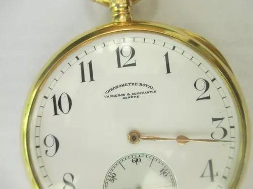 Relógio bolso vacheron & constantin 18k 22 linhas + estojo
