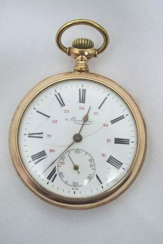 Relógio de bolso mgbm genéve minerva (raridade)