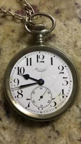 Relógio de bolso minerva 56mm revisado