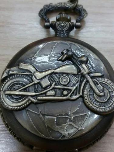 Relógio de bolso motocicleta com garantia frete grátis