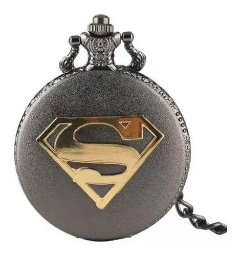 Relógio de bolso retro - superman