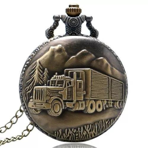 Relógio de bolso vintage caminhão caminhoneiro trucker