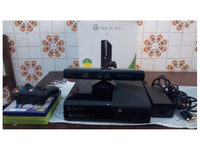 Xbox 360 super, 1 controle, kinect e 5 jogos, aceito play 2