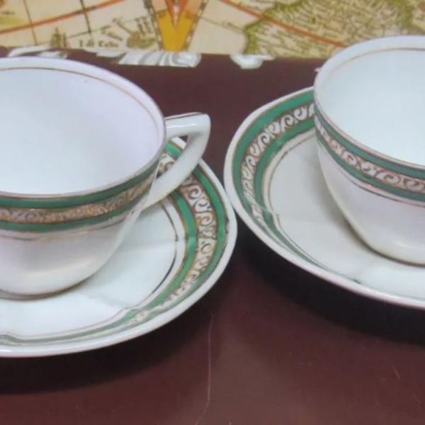 Xícaras café porcelana schmidt - lote com 2