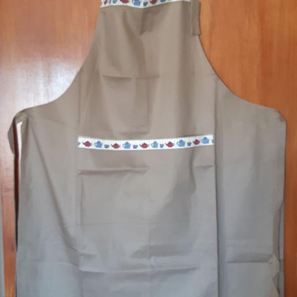 Avental brim - unissex - marrom - cozinha