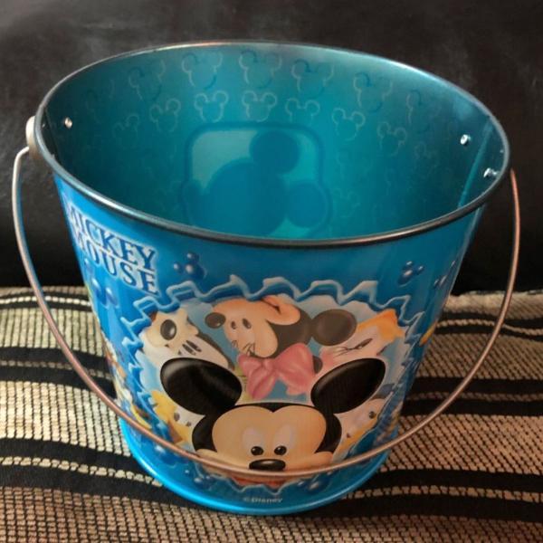 Baldinho porta treco mickey mouse azul