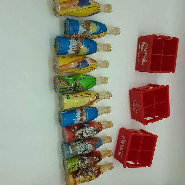 Garrafas coca cola miniatura colecionador