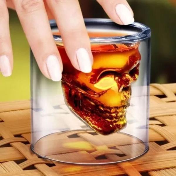 Jogo 2 copo shot caveira