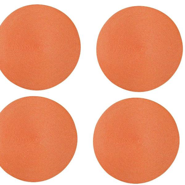 Jogo americano redondo laranja 38 cm tyft mesa