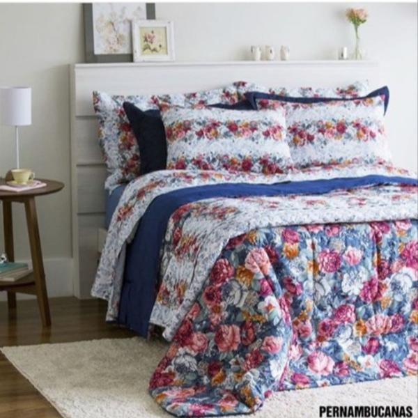 kit cama queen floral