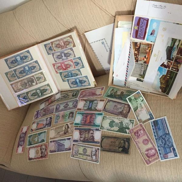 Notas de dinheiro para colecionador.tudo impecável!