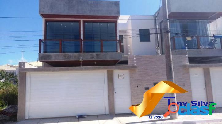 Casa duplex independente no novo portinho fino acabamento!