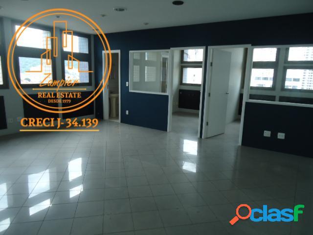 Sala Comercial 53m² - Vila Mathias - Santos