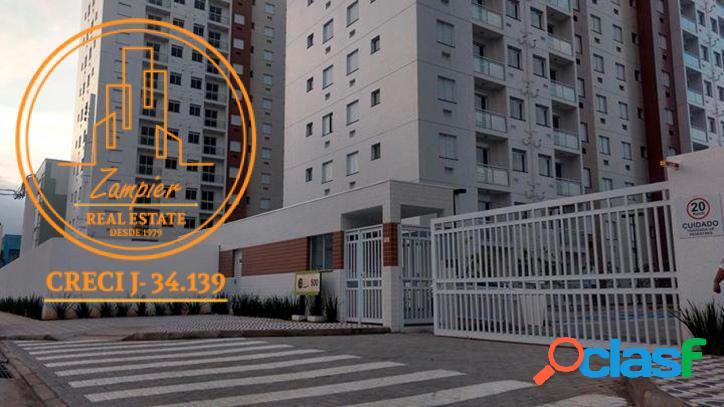 Apartamento novo - 2 quartos - 48,65m2 - cidade ocian