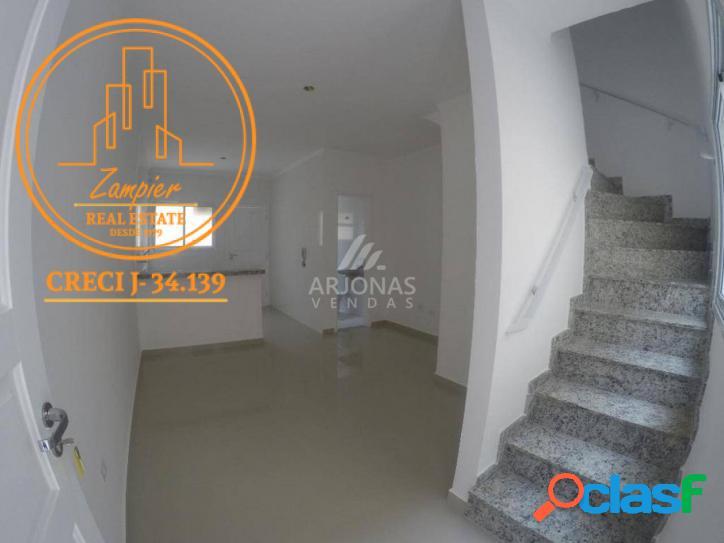 Casa nova - 2 quartos - 55m2 - jd. anhanguera - praia grande