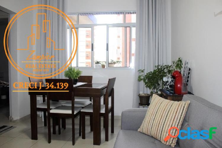 Apartamento 2 dormitórios (1 suite) na ponta da praia - santos
