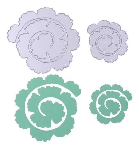 2pcs rosa flor rolo de metal morre stencils para diy phot