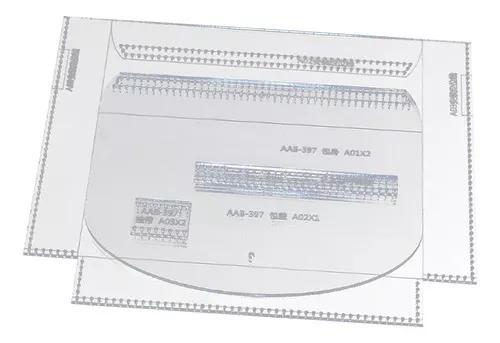 4 peças acrílico bolsa padrão stencils modelo couro