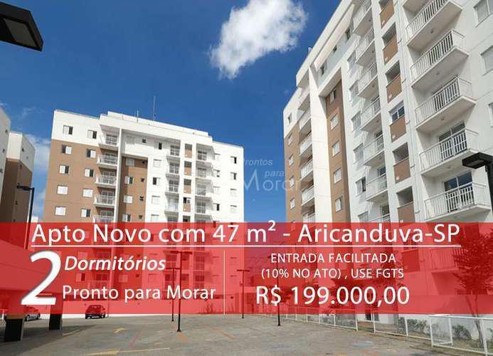 Apartamento novo com 47 metros quadrados, 2 quartos em vila
