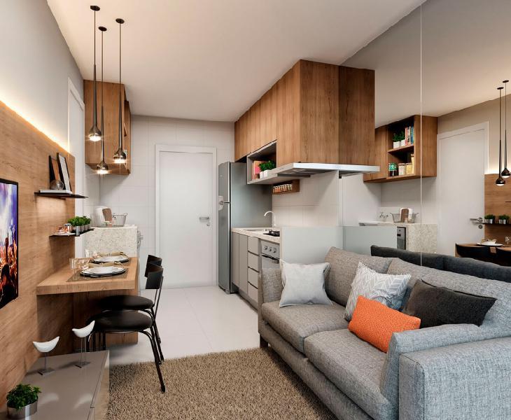 Apartamento para venda com 31 metros quadrados com 1 quarto