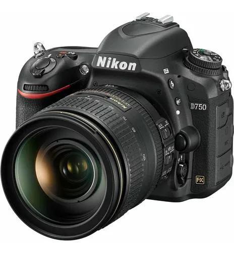 Camera digital slr nikon d750 de 24,3 mp com afs 24-120 mm 4