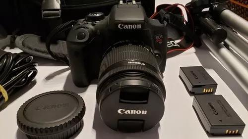 Canon eos rebel t6i 3 lentes 2 baterias tripe kit completo