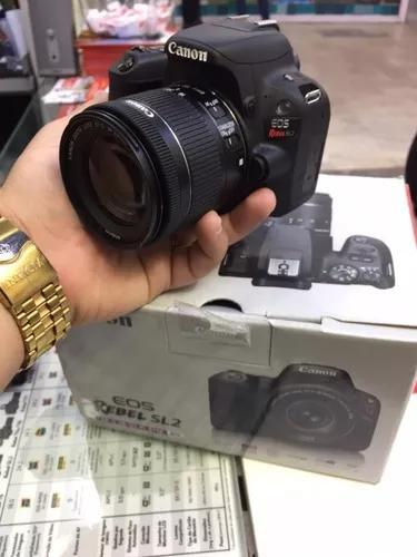Canon sl2 com lente 18:55 is stm