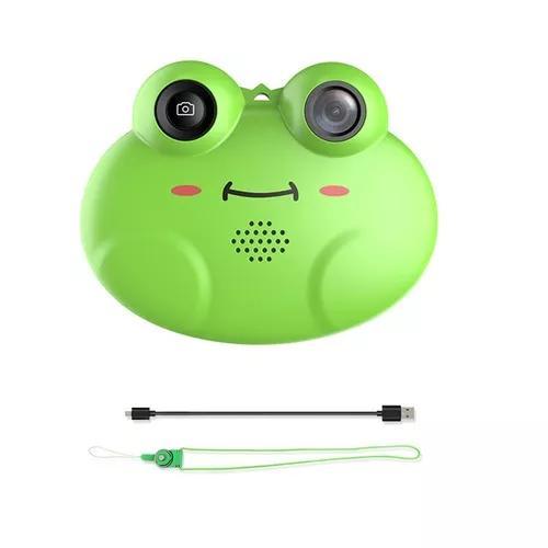Cartoon frog forma mini câmera de vídeo digital crianças