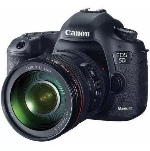 Câmera canon eos 5d mark iii lente 24-105mm novíssima.