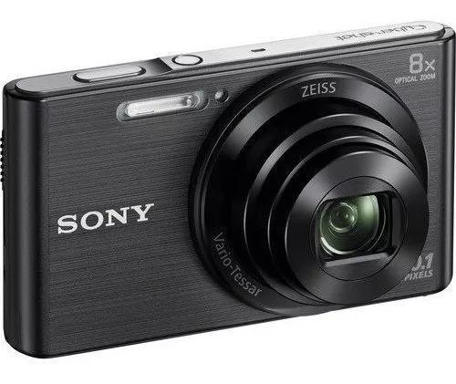 Câmera cyber-shot sony dsc-w830 20.1 mp zoom 8x hd preto