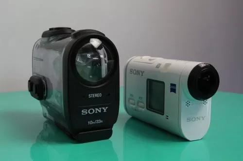 Câmera de ação sony 4k - x1000 + mini tripé