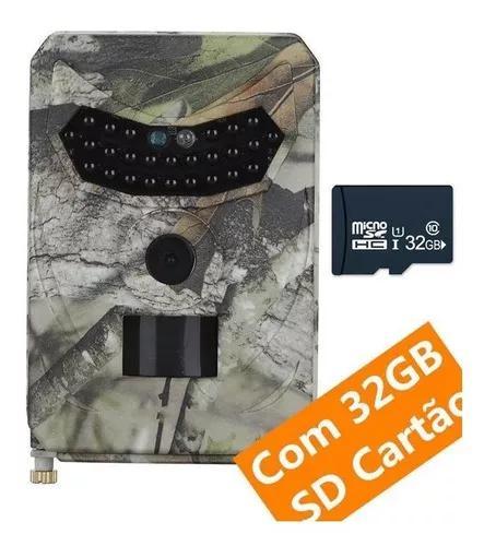 Câmera de trilha prova de água c/ 32gb sd cartão