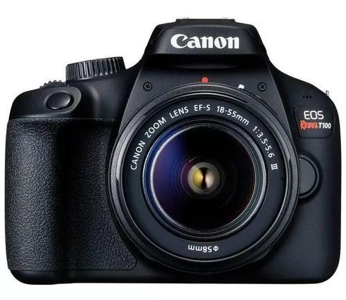 Câmera digital canon eos rebel t100 18mp 2.7