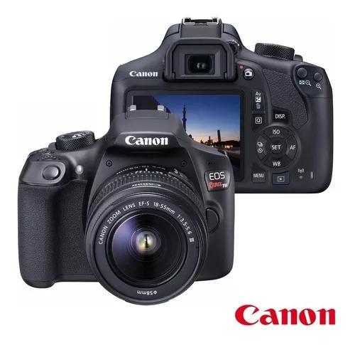 Câmera digital dslr canon eos rebel t6 ef-s 18-55mm