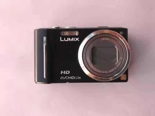 Câmera digital panasonic lumix dmc-tz10 preta 12.1mp