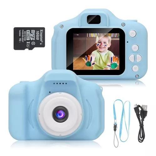 Câmera infantil digital fotográfica + brinde cartão de