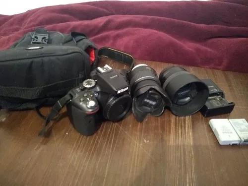 Câmera nikon d5300 - lente 18-55mm+ 50 mm +bolsa - s