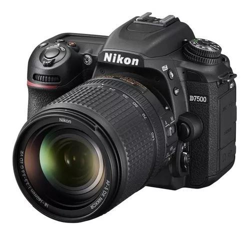 Câmera nikon d7500 4k com 18-140mm f/3.5-5.6g ed vr c/ nfe