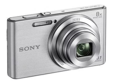 Câmera sony dsc-w830 prata 20.1 mp zoom 8x t