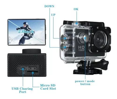 Câmeras subaquáticas à prova d'água esporte câmera 30m
