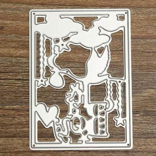 Diy bonito menina corte de metal dies mold cutter scrapbook