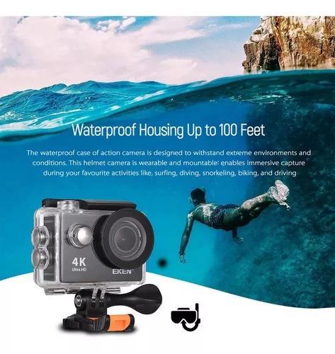 Eken h9 ultra hd 4 k camera de a??o de controle wi-fi camera