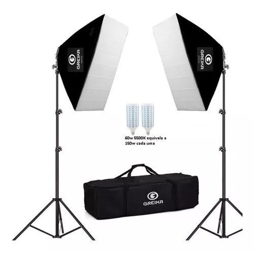 Kit soft-box 50x70 greika agata ii led 220v/ 110v 5500k